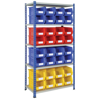 Shelving with Heavy Duty Storage Bins