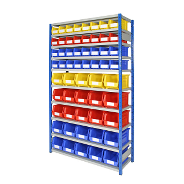 Shelving Bays with HD Plastic Bins