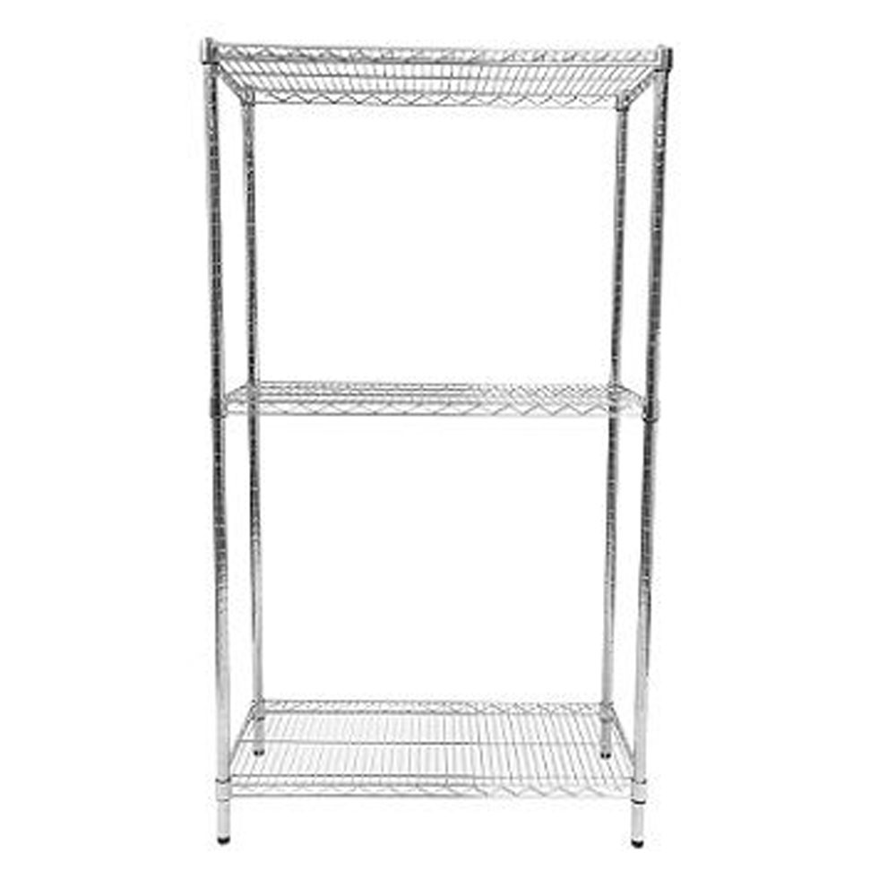 Static Chrome Wire Shelving Bays