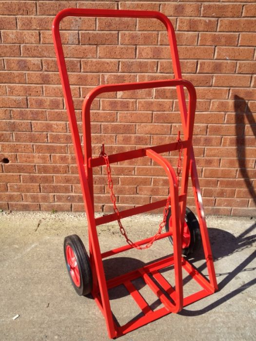 PTCT01 - Premium Twin Cylinder Trolley for Oxygen or Acetylene