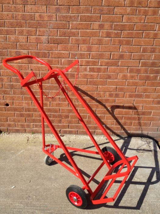 P3TCT03 - Premium 3 Wheeled Twin Cylinder Trolley for Oxygen or Acetylene