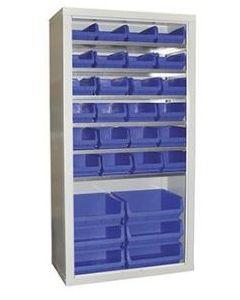 CY189046630X - Steel Cupboard inc. Storage Bins - 1800h x 900w x 460d
