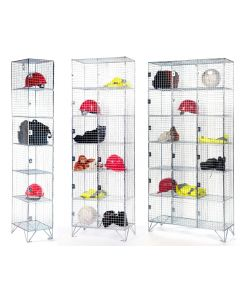 6 Tier Wire Mesh Lockers