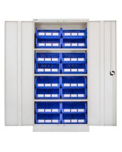 CDGG/18/J - Steel Cupboard inc. Storage Bins - 1829h x 914w x 457d