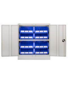 CDGG/10/A - Steel Cupboard inc. Storage Bins - 1016h x 914w x 457d