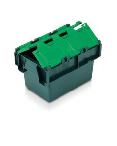 ALC3020200TG - Attached Lid Container 300x200x200H - Two Tone Green