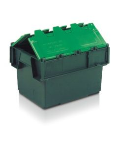 ALC4030252TG - Attached Lid Container 400x300x252H - Two Tone Green