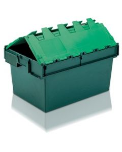 ALC6040320TG - Attached Lid Container 600x400x320H - Two Tone Green