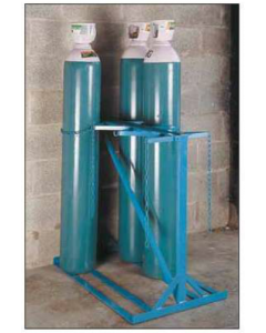 Double Sided Cylinder Floor Stand