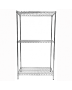 Chrome Wire Shelving Bays
