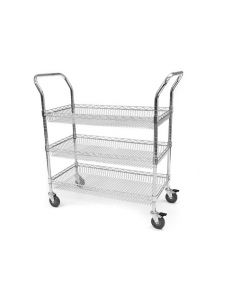 Basket Chrome Wire Trolleys