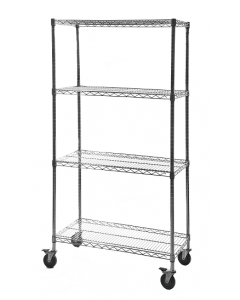 Mobile Chrome Wire Rack - 210kg max load