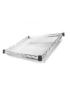 Chrome Wire 27 Degree Sloping Basket Shelf