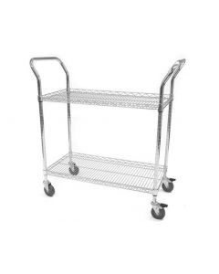 Lipped Edge Chrome Wire Trolleys