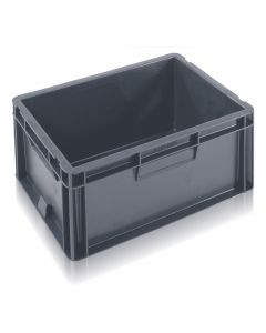 EC4030175S - Euro Container 400x300x175H (mm) Solid Base and Sides - Grey