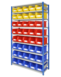 HPBEXR01 - Expo 4 Shelving inc. Storage Bins - 2000h x 1150w x 400d