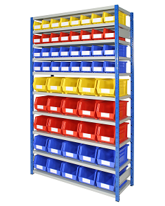 HPBEXR02 - Expo 4 Storage Shelving inc. Bins - 2000h x 1150w x 400d