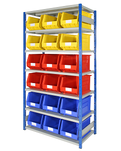 HPBEXR03 - Expo 4 Storage Shelving inc. Bins - 2000h x 1000w x 500d