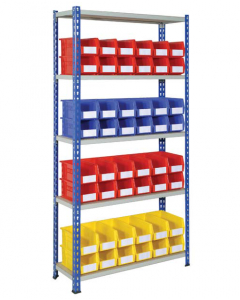 HPBJRB01 - J Rivet Shelving inc. Storage Bins - 1830h x 915w x 305d