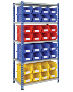HPBJRB02 - J Rivet Shelving inc. Storage Bins - 1830h x 915w x 457d
