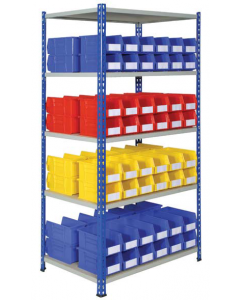 HPBJRB04 - J Rivet Shelving inc. Storage Bins - 1830h x 915w x 610d