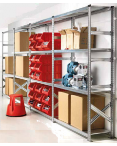 2.5m High Short Span (900 or 1200mm wide) Steel Shelving