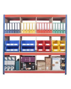 Heavy Duty Rivet Shelving with Dividers