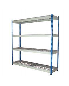 Heavy Duty Rivet Shelving with Steel Wire Mesh Decks