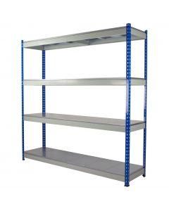 Heavy Duty Rivet Shelving with Solid Steel Decks