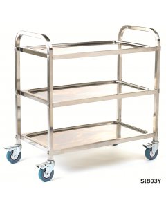 Stainless Steel Trolley - SI803Y - 3 Shelves