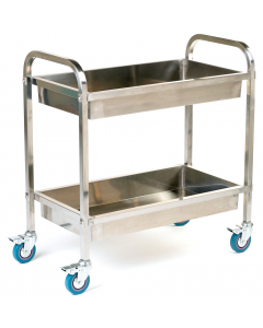 Stainless Steel Tray Trolley - SI822Y - 2 Trays