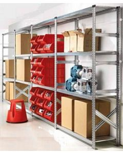 2.5m High Long Span (1500 or 1800mm wide) Steel Shelving
