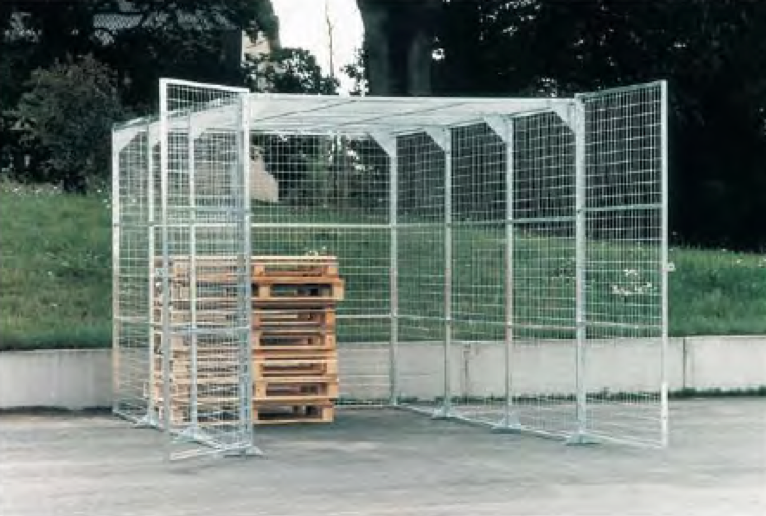 Galvanised steel cages